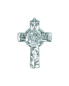 5in. St. Andrew  Fine Pewter Cast Cross