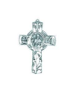 5in. St. Matthew Fine Pewter Cast Cross