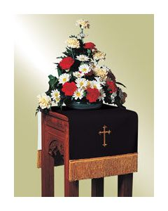 Reversible Flower Stand Cover Black/White