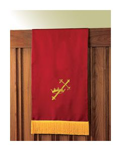 Reversible Lectern Hanging Red/White Symbols