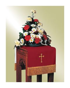 Reversible Flower Stand Cover -Red/White