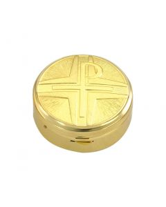 Communion Pyx with Chi-Rho Symbol 12 Host Cap