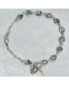 Labrador Crystal Rosary Bracelet