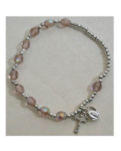 Birthstone-June Rosary Bracelet