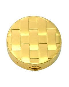 Communion Pyx with Basket Weave Design 8 Host Cap