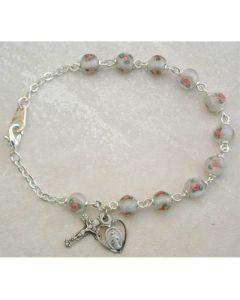 White Venetian Rosary Bracelet