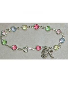 Multi Crystal Rosary Bracelet