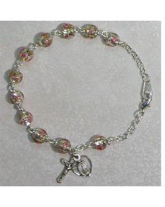 Clear Venetian Rosary Bracelet