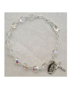 Birthstone-Crystal Youth Rosary Bracelet