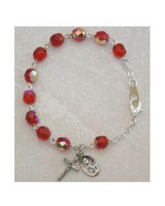 Birthstone-July Youth Rosary Bracelet
