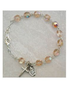 Birthstone-October Youth Rosary Bracelet