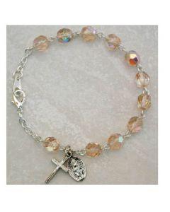 Birthstone-October Youth Rosary Bracelet