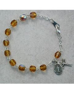 Topaz Youth Rosary Bracelet