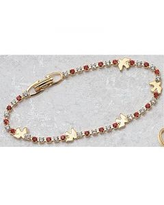 Crystal and Red Dove Youth Rosary Bracelet