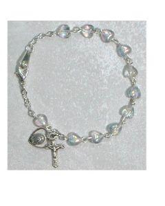 Crystal Heart Youth Rosary  Bracelet