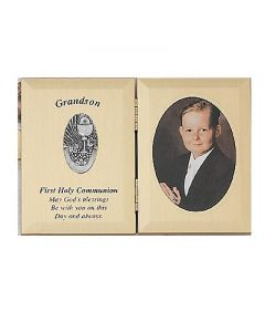 Grandson First Communion Photo Plaque