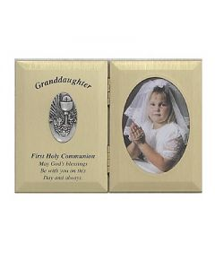 Granddaughter First Communion Photo Plaque