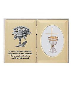 First Communion Folding Photo Plaque