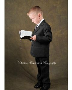 Boys First Communion Suit-Black