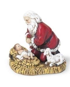 Kneeling Santa Figurine Ornament