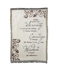 Serenity Prayer Christian Afghan-Throw