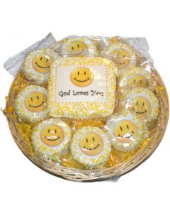Smile God Loves You Christian Gift Basket