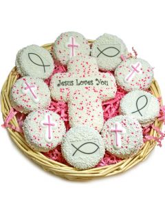 Jesus Loves You Cookie Christian Gift Basket