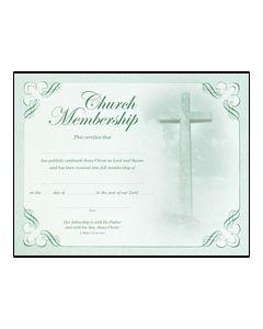 Membership Certificate - Premium, Green Foil Embossed