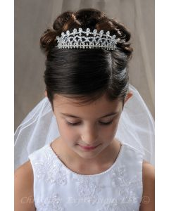 FIrst Communion Crown Headpiece with Crystals