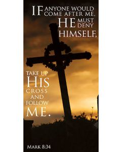 Take Up His Cross Canvas Church Banner