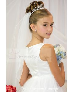 Trisha First Communion Crown Veil