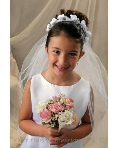 Tammy First Communion Wreath Veil