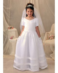 Organza Long Length First Communion Dress Pearl Beading
