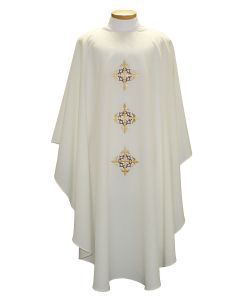 Triple Cross and Crown Lenten Clergy Chasuble