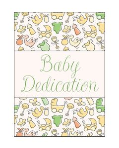 Baby Dedication Certifcate - 5x7 folded, Premium stock