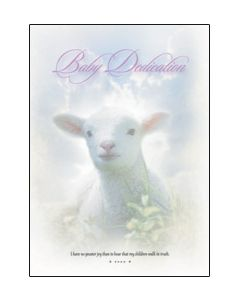 Baby Dedication Certificate - 5x7 folded, Premium stock
