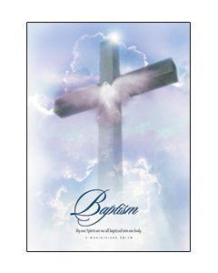 Baptism Certificate - 5x7 folded, Premium stock