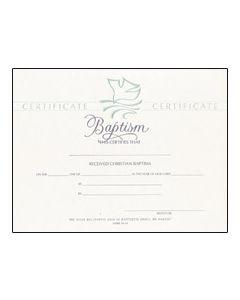Baptism Certificate - Premium, Pearl Foil Embossed