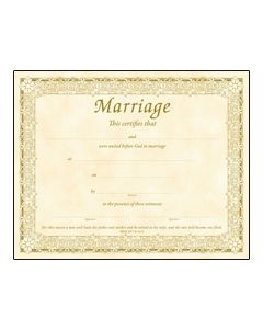 Certficate/Marriage