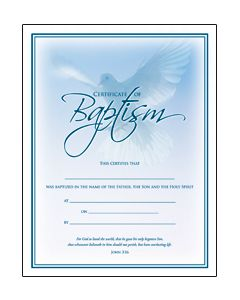 Baptism Certificate - Coated, Full Color