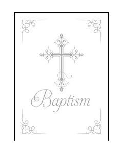 Baptism Certificate - 5x7 folded, Premium, Foil Embossed