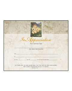 In Appreciation Certificate - Premium, Gold Foil-Stamped
