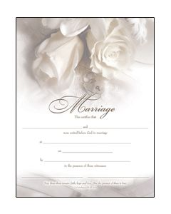 Marriage Certificate - Premium, Gold-Foil Stamped