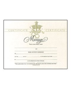 Marriage Certificate - Premium, Pearl Foil-Embossed