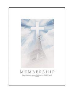 Membership Certificate - 5x7 folded, Premium stock