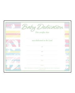 Baby Dedication Certificate - Premium, Green Foil Embossed