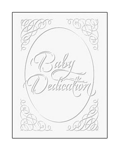 Baby Dedication Certificate - 5x7 folded, Premium, Silver Foil Embossed