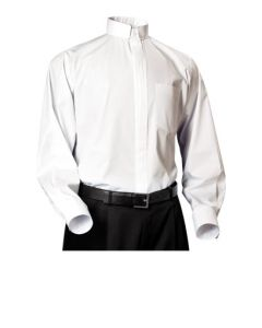 Clerical Shirt- Long Sleeve Tabless (Four Colors Available)
