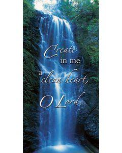 Create In Me A Clean Heart Church  Banner
