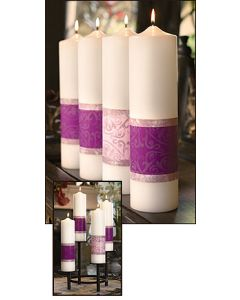 Advent Pillar Candles Emmanuel Series Set 4